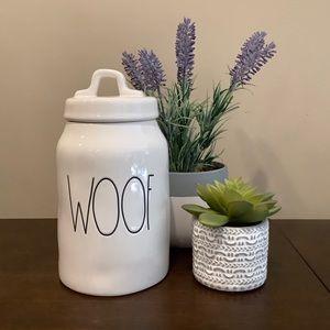 Rae Dunn WOOF Dog Treat Canister 🐕